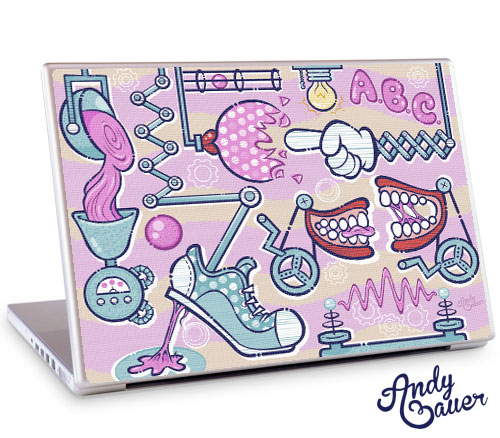 Chewing Gum Laptop Cover by Andy Bauer