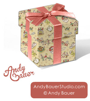 Christmas Wrapping Paper Art Licensing Andy Bauer