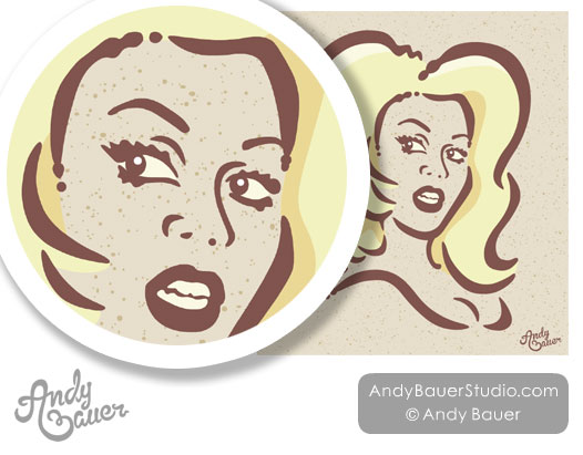 Portrait RuPaul Illustration Illustrator Andy Bauer
