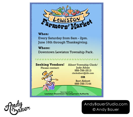 Lewiston Farmers' Market Flyer by Andy Bauer