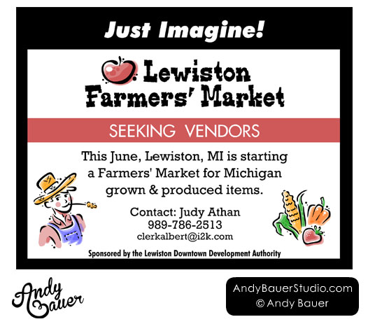 Lewiston Farmers' Market Newspaper Ad by Andy Bauer