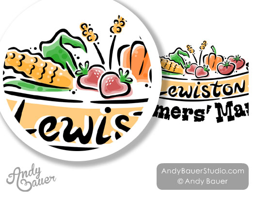 Farmers Market Logo Illustrator Hire Illustration Andy Bauer