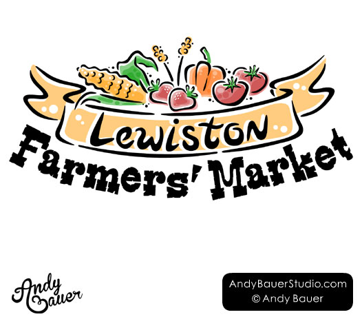 Lewistion farmers market logo design Andy Bauer