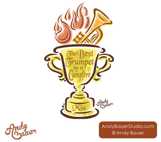 Trumpet award trophy campfire Andy Bauer