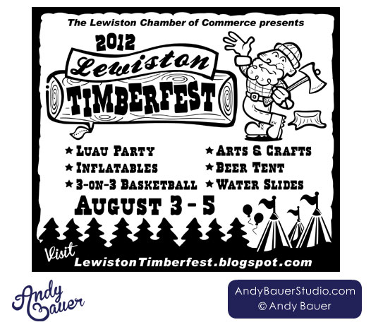 Lewiston Timberfest Newspaper Ad by Andy Bauer