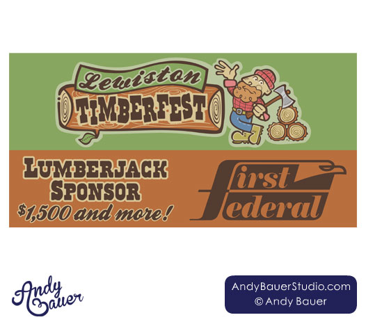 Lewiston Timberfest Sponsor Banner by Andy Bauer