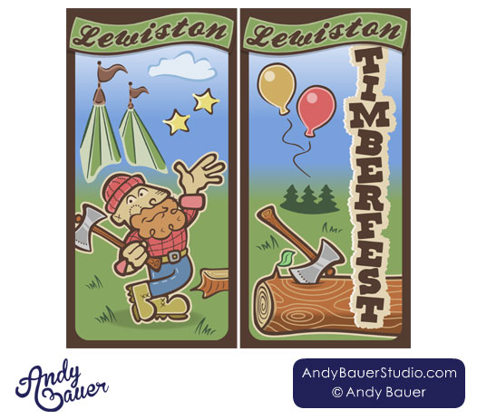 Lewiston Timberfest Street Banners by Andy Bauer