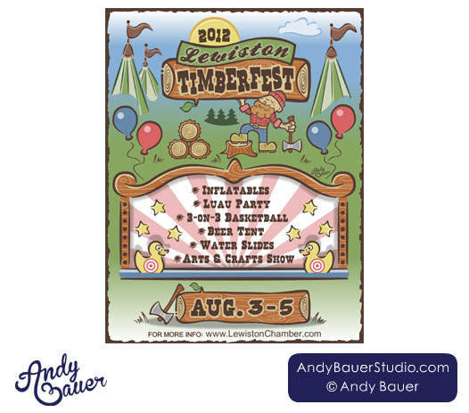 Lewiston Timberfest Flyer by Andy Bauer
