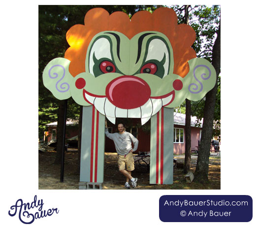 Clown mouth funhouse entrance by Andy Bauer
