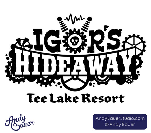 Igor's Hideaway logo design by Andy Bauer