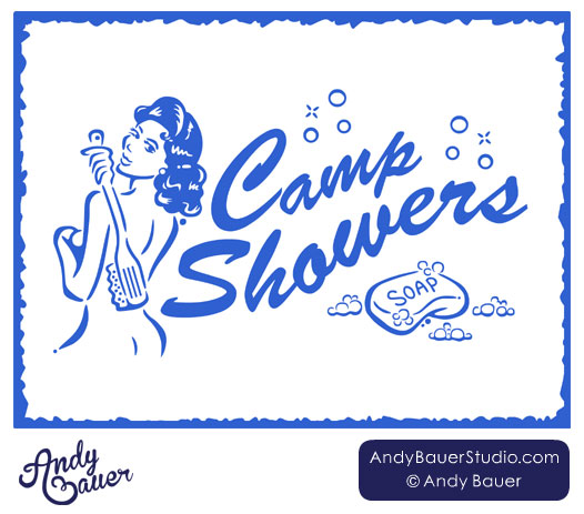 Camp Showers by Andy Bauer