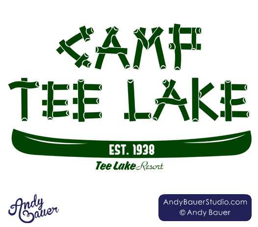 Camp Tee Lake logo design by Andy Bauer