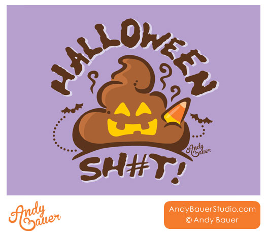 Halloween Shit Logo Design by Andy Bauer