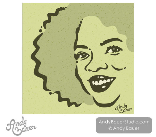 Caricature Portrait Oprah Editorial Illustration Illustrator Hire Andy Bauer