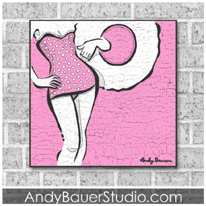 Bathing Beauty Rustic Pop Art Andy Bauer