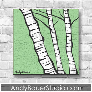 Birch Trees Fine Art Andy Bauer