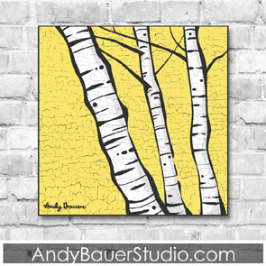 Birch Fine Art Painting Print Sale Andy Bauer