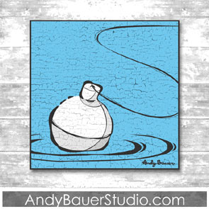 Fishing Fine Art Rustic Pop Andy Bauer