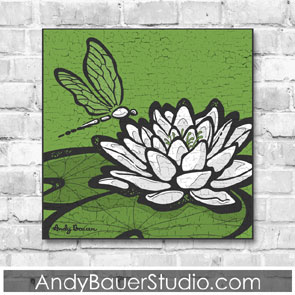 Dragonfly on Lily Pad Fine Art Andy Bauer