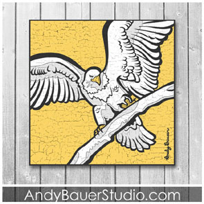 East Twin Lake Eagle Art Rustic Pop Andy Bauer