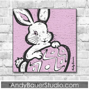 Easter Bunny Fine Art Rustic Holiday Andy Bauer