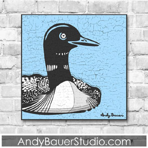 Loon Fine Art Rustic Pop Andy Bauer