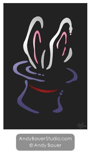 Poster Art for Sale Magic Hat Rabbit Vegas Magician Andy Bauer