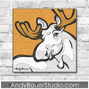 Moose Fine Art by Andy Bauer