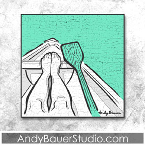 Relaxing Row Rustic Pop Art Andy Bauer