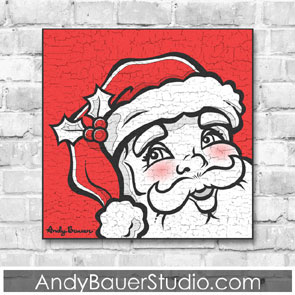 Santa Claus Fine Art Rustic Pop Andy Bauer