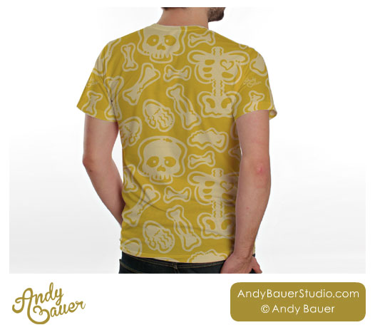 Skeleton Bones Halloween Pattern Art Licensing Andy Bauer