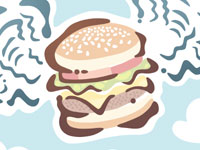 Burger Wings Editorial Illustration Andy Bauer