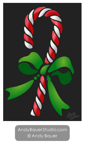 Candy Cane Art by Andy Bauer