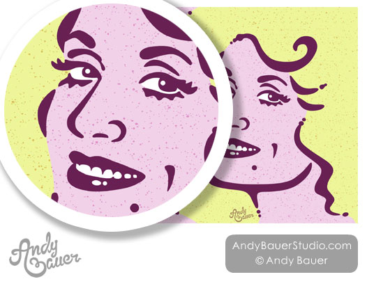 Dolly Parton Portrait Illustrator Artist Andy Bauer