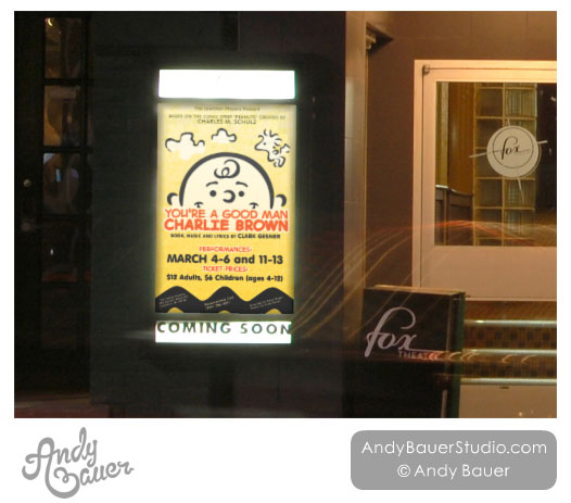 You're A Good Man Charlie Brown custom theatre poster design by Andy Bauer