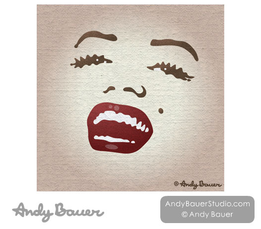 Marilyn Monroe by Andy Bauer