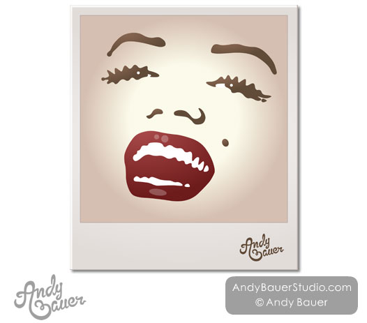 Marilyn Monroe Illustrated Illustration portrait Andy Bauer