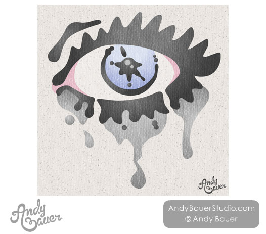 Crying Running Mascara Illustration Illustrated Andy Bauer