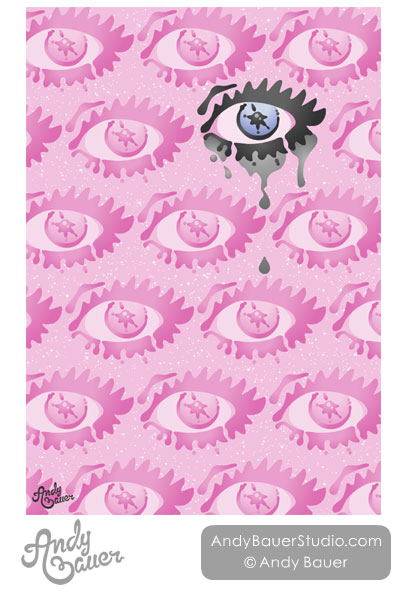 running mascara eye pattern surface design Andy Bauer