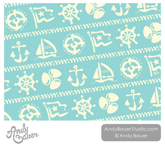 Nautical Surface Pattern Art Licensing Andy Bauer