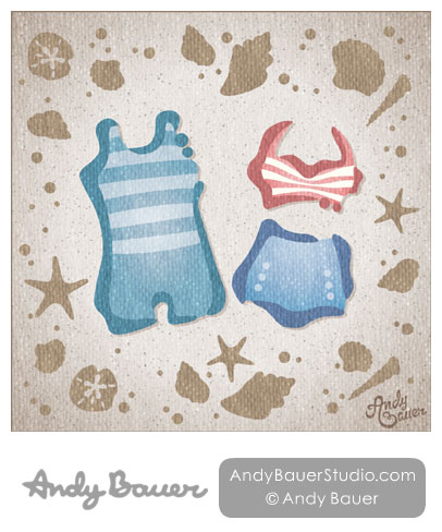 Retro Swimwear Fine Art Print Andy Bauer