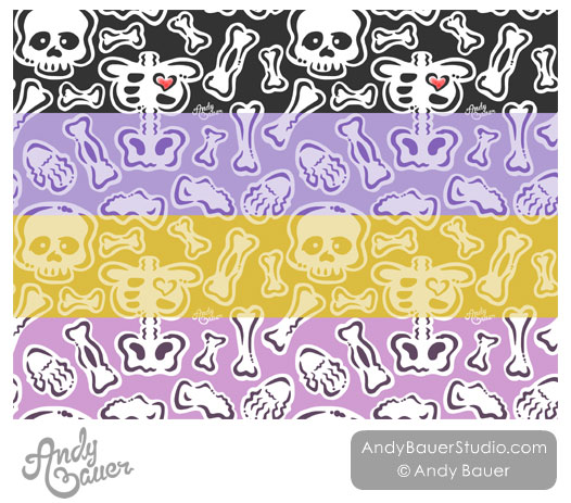 Halloween Surface Pattern Art Licensing Andy Bauer