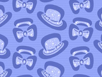 Bowler Hat Bow Tie Repeat Pattern Quirky Art Andy Bauer