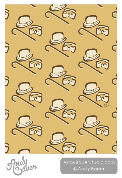 Male Dancer Pattern Seamless Repeat Art Licensing Andy Bauer