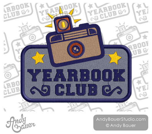 Yearbook Club Patch Vintage Camera Andy Bauer