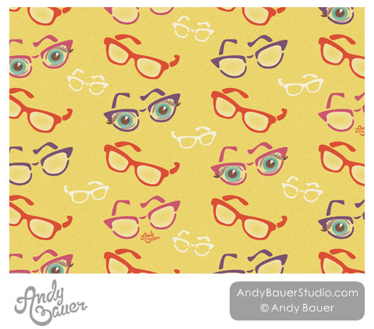 Eye Glasses Quirky Pattern Art Licensing Andy Bauer