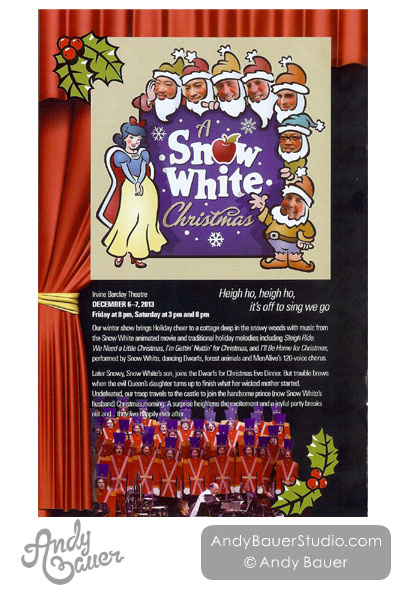 MenAlive A Snow White Christmas Show Poster Design by Andy Bauer