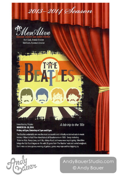 MenAlive Beatles Show Poster Design by Andy Bauer