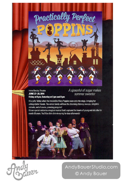 MenAlive Practically Perfect Poppins Show Poster Design by Andy Bauer