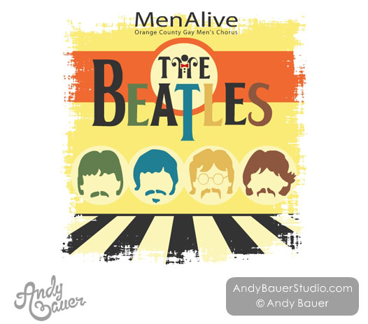 The Beatles Poster Design Gay Mens Chorus